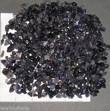 IOLITE Chips 5-15mm rough indigo blue transparent 1/2 lb bulk xmini-xs stones