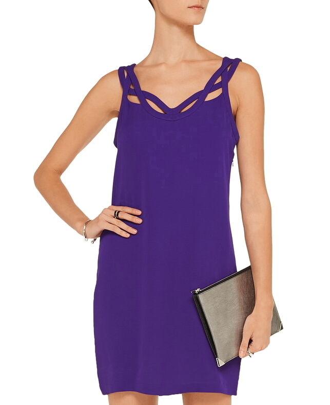 Nuevo Con Etiquetas  445 DIANE VON FURSTENBERG  Jillian Seda recorte Vestido ácido uva púrpura Talla 8  precios bajos