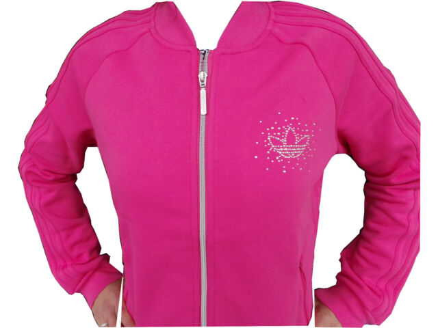 Top Hot adidas Hoodie Sweater Pink Rhinestone Fitness Jacket Women s ... fb3588ac5b