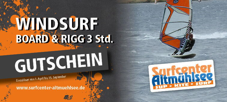 WINDSURF / Verleih Board&Rigg (3 Std.)