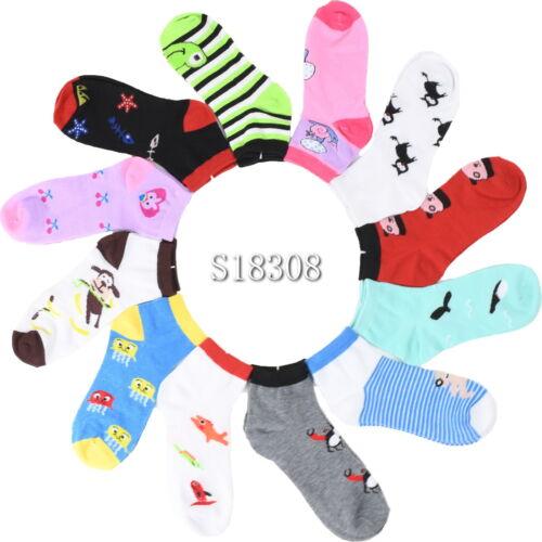 Size 9-11 Women/'s Thin Ankle Socks  12 Pairs Novelty Socks 2