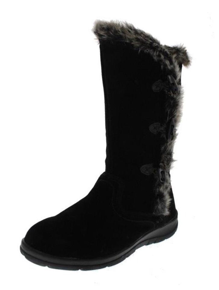 New WHITE MOUNTAIN Women Suede Mid Calf Flat Pull On Fur Snow Boot Shoe Sz 6 M
