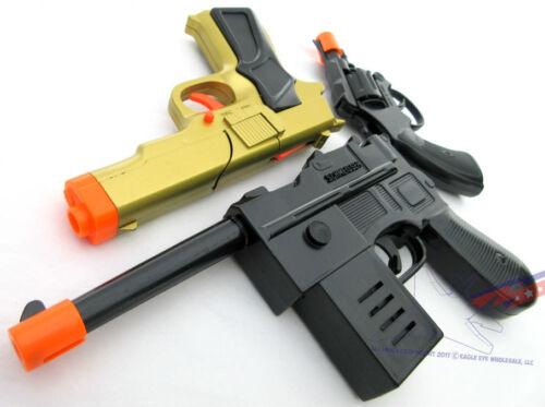 Military Toy Mauser Pistol 3x Toy Guns Gold 9MM Pistol /& Revolver Cap Gun