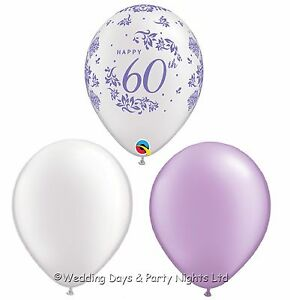 Image Is Loading 30 Happy 60th Balloons Diamond Wedding Anniversary Or
