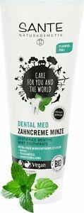 1 x SANTE Dental Med Zahncreme Minze, Ohne Natriumfluorid, Vegan, Bio-Extrakte