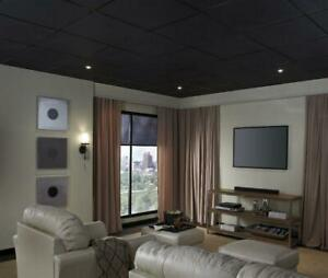 Armstrong 24 x 24 x 5/8 Black fine fissured Square Edge Ceiling Panels ( 1728BL ) Edmonton Area Preview