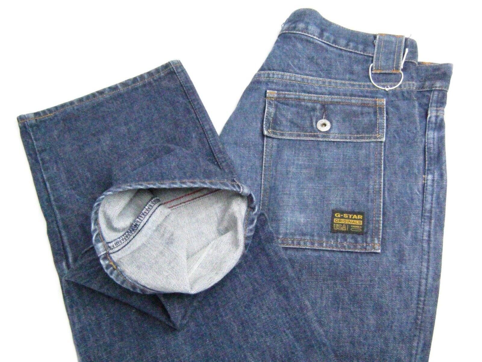 G STAR RAW EXPLORER Mens Cotton Cargo bluee Jeans Denim Size W36 L33 Regular Fit