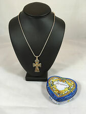 "Brighton ""Trust"" Cross Pendant Necklace with Swarovski Crystals"