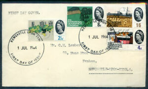 Great Britain 1964-5 6 first day covers on plain envelopes (2020/09/12#08)