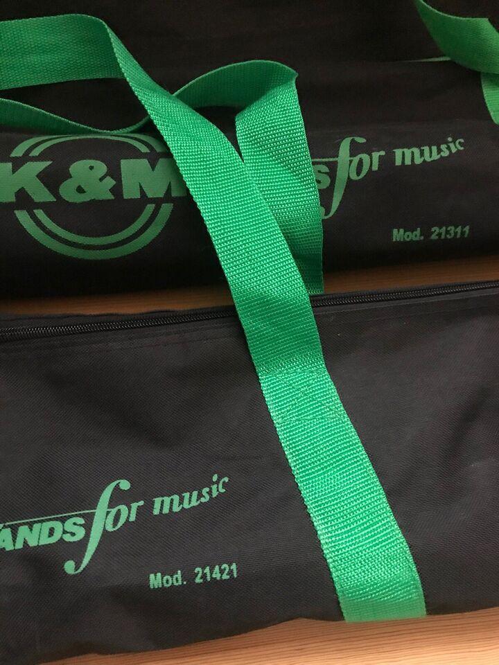 Mikrofonstativ og mikrofonstativ taske, König & Meyer