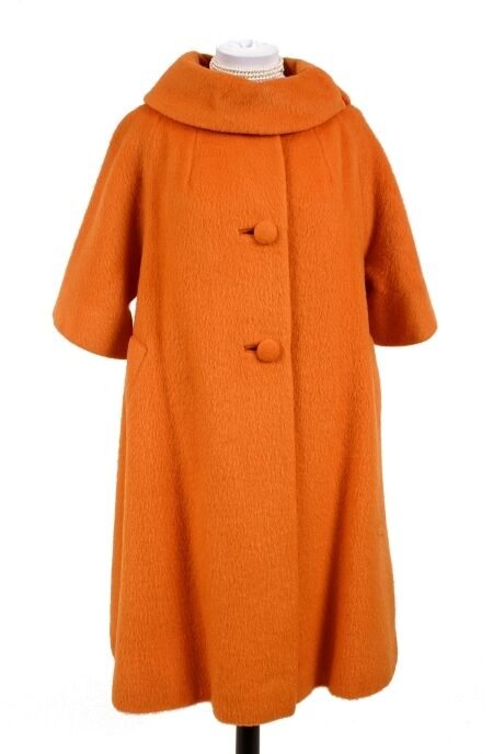 LILLI ANN GREAT VINTAGE orange 3 4 SWING COAT