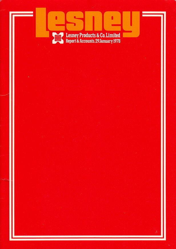 MATCHBOX LESNEY rapport de gestion de 1978  pour les Actionnaires  design simple et généreux