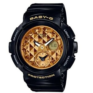 Casio-Baby-G-BGA-195M-1A-Black-Gold-Round-Series-Analog-Digital-Womens-Watch