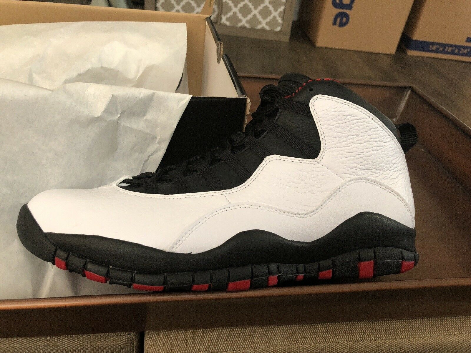 huge selection of 22a2e 3aaff Nike Air Jordan x 10 retro Chicago Bulls blanco blanco Bulls rojo negro  Stealth 310805-100 10,5 estacional de recortes de precios, beneficios de  descuentos ...