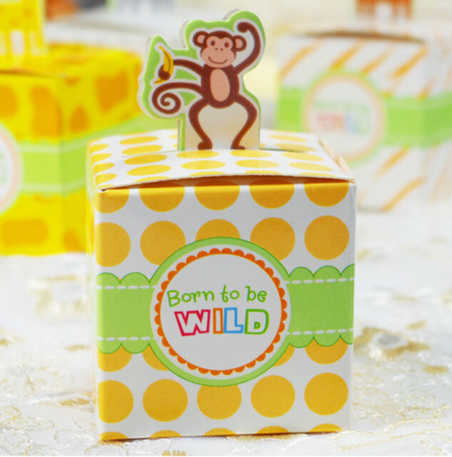 10pcs Gift Candy Bomboniere Boxes Baby Shower Party Favor box Decorations BX014