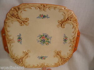 Vintage-Maruhom-Japanese-Pottery-Tray-or-Plate-Floral-Design