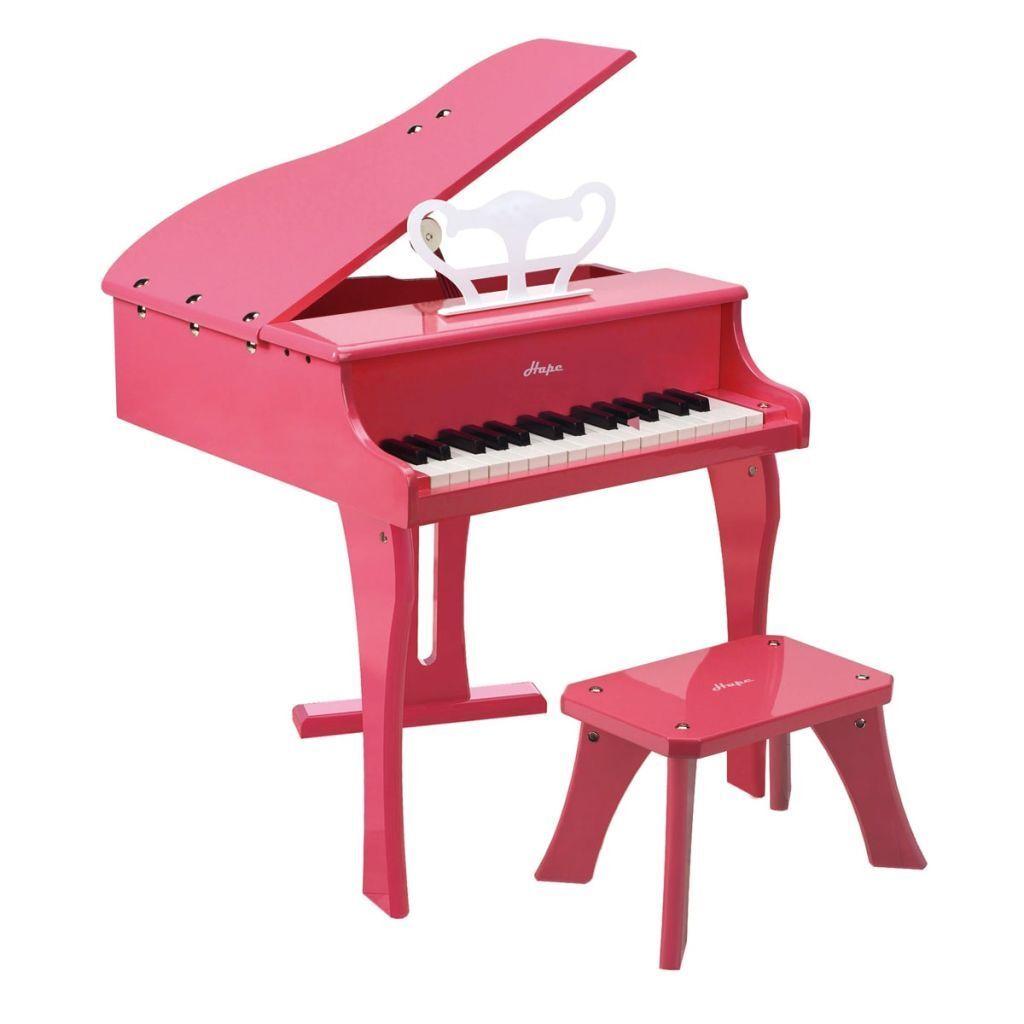 Hape Spielzeug-Flügel Klavier Kinder Spielzeug Holz Musikinstrument Schwarz Schwarz Schwarz Rosa 72e452