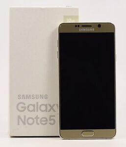 Image Is Loading OPEN BOX Samsung Galaxy Note 5 Gold SM