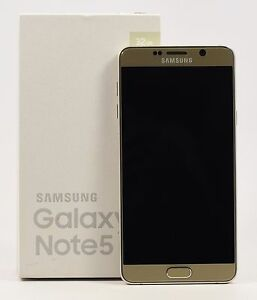 OPEN BOX Samsung Galaxy Note 5 Gold SM N920i FACTORY UNLOCKED