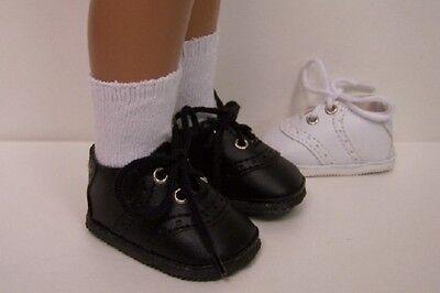 """Fancy Lace-up  White Ice Skates 2-7//16/"""" L Fit Sasha 17/"""" Shirley 16-18/""""dolls"""