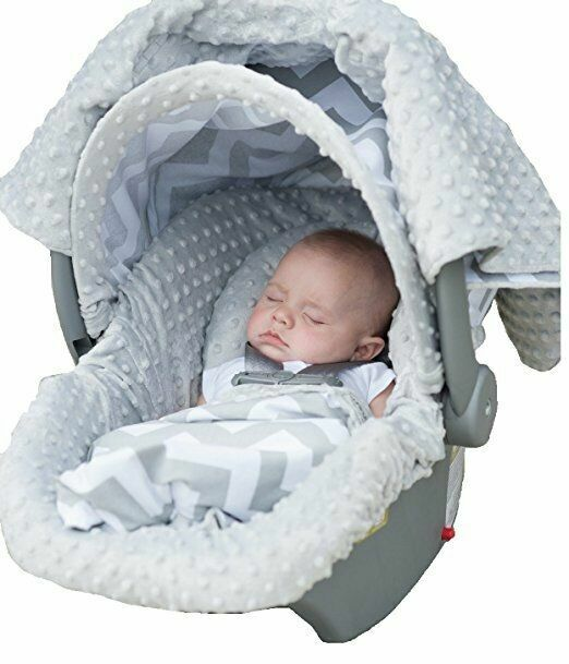 The Whole Caboodle 5PC set Baby Infant Car Seat Cover with... Carseat Canopy