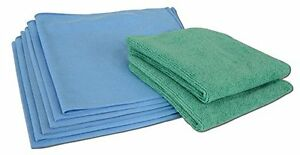 dedb7970eda Image is loading Microfiber-Glass-Cleaning-Cloths-8-Pack-Lint-Free-