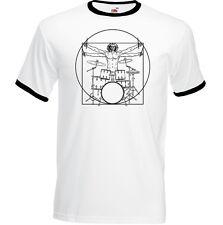 Drumming Da Vinci Vitruvian Man Mens Funny Vest Drummer Drums Drum