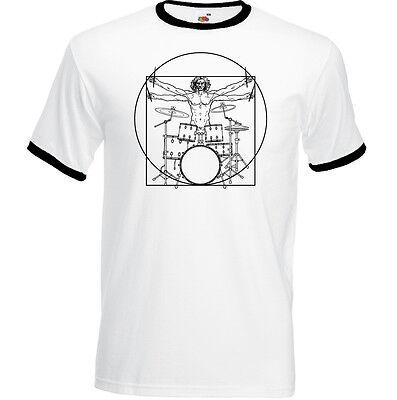 Drumming Da Vinci Vitruvian Man Mens Funny Hoodie Drummer Drums Drum