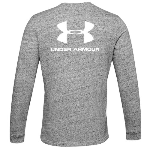 Under Armour Sport Style Terry Logo Crew long manche chemise pull 1355629-112