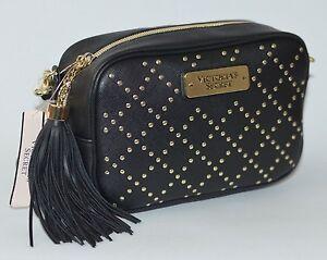 Image Is Loading Victoria Secret Black Studded Crossbody Purse Handbag Beauty