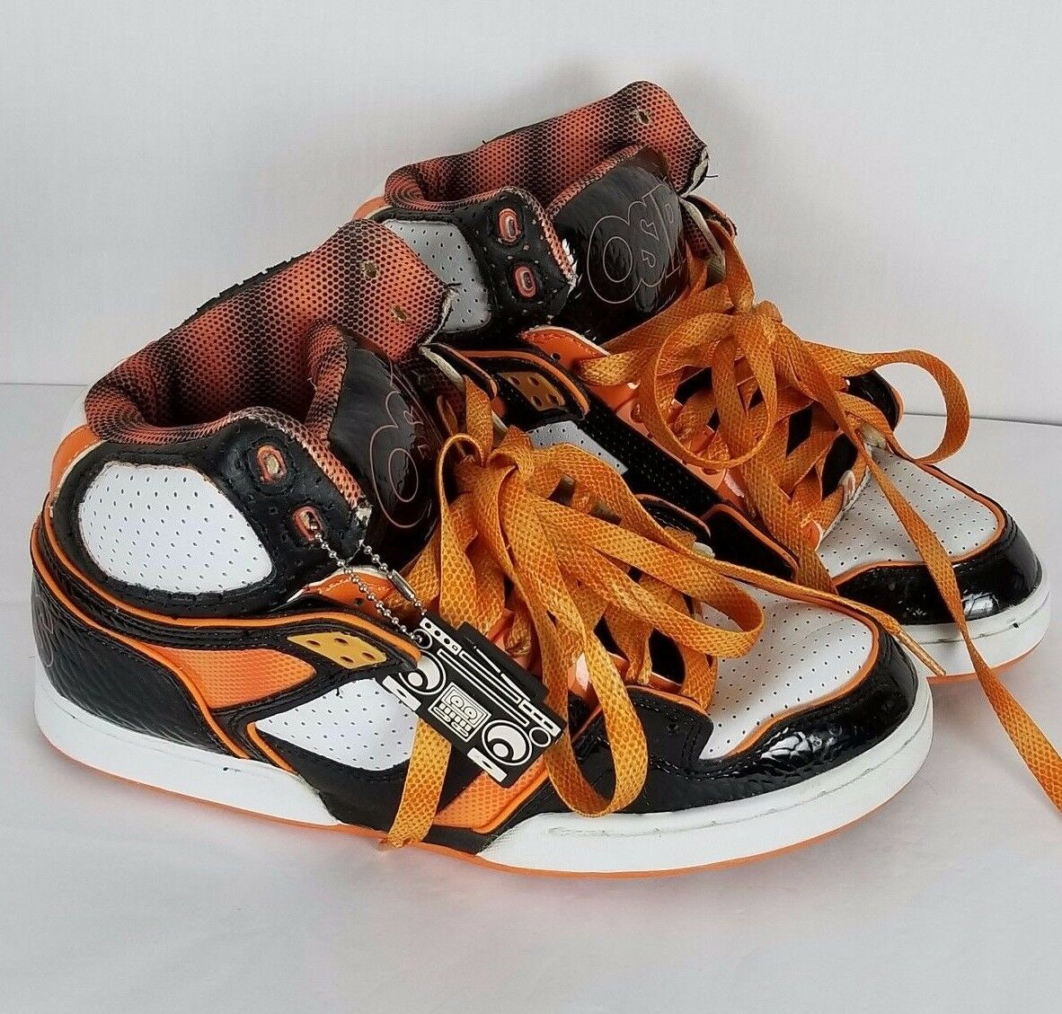OSIRIS NYC 83 Ultra Black Orange White Skateboard Shoes size USA 7