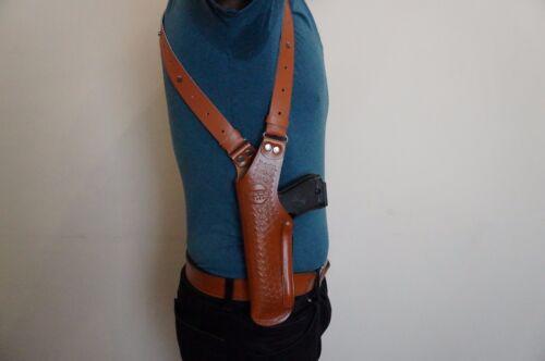 L400-84 Basketweave Leather Vertical Shoulder Holster For Beretta 84 LEFT HANDED
