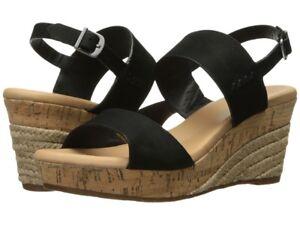 ad7d8fdc3c7 NIB by UGG Australia ELENA II METALLIC Black Leather Wedge Sandals ...