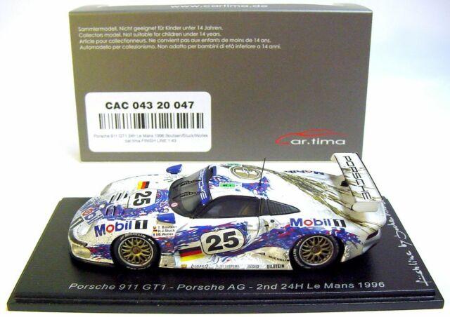 Porsche 911 gt1 test car 24h le mans 1996 teatro Boutsen wollek 1:43 Spark 5601