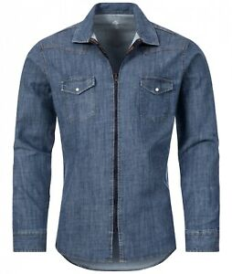 Rock Creek Herren Jeans Hemd Denim Übergangsjacke Jeansjacke Kentkragen M54 NEU