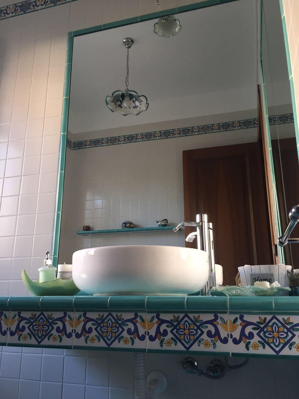 Ceramica Vietri 40 Pz.Listelli 10x20 Decorati a Mano Mano Mano Consegna in 7 gg.Lavorativi 7b113e