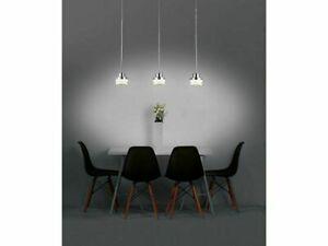 Pendel-Leuchte-Decken-Lampe-Kristalle-flach-LED-LIVARNO-LUX