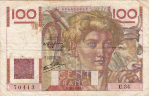 BILLET FRANCE 100 Francs JEUNE PAYSAN 18-04-1946 D U.34 état voir scan 413 - France - BILLET: 100 frs Valeur faciale: 100 Francs - France