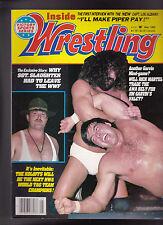 Inside Wrestling Magazine Sgt Slaughter Rick Martel Lou Albano May1985