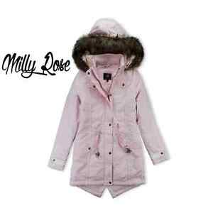 a44be3ae3 Details about BRAVE SOUL LADIES PINK FUR HOODED PARKA LONG WINTER JACKET  COAT OVERSIZED SIZE
