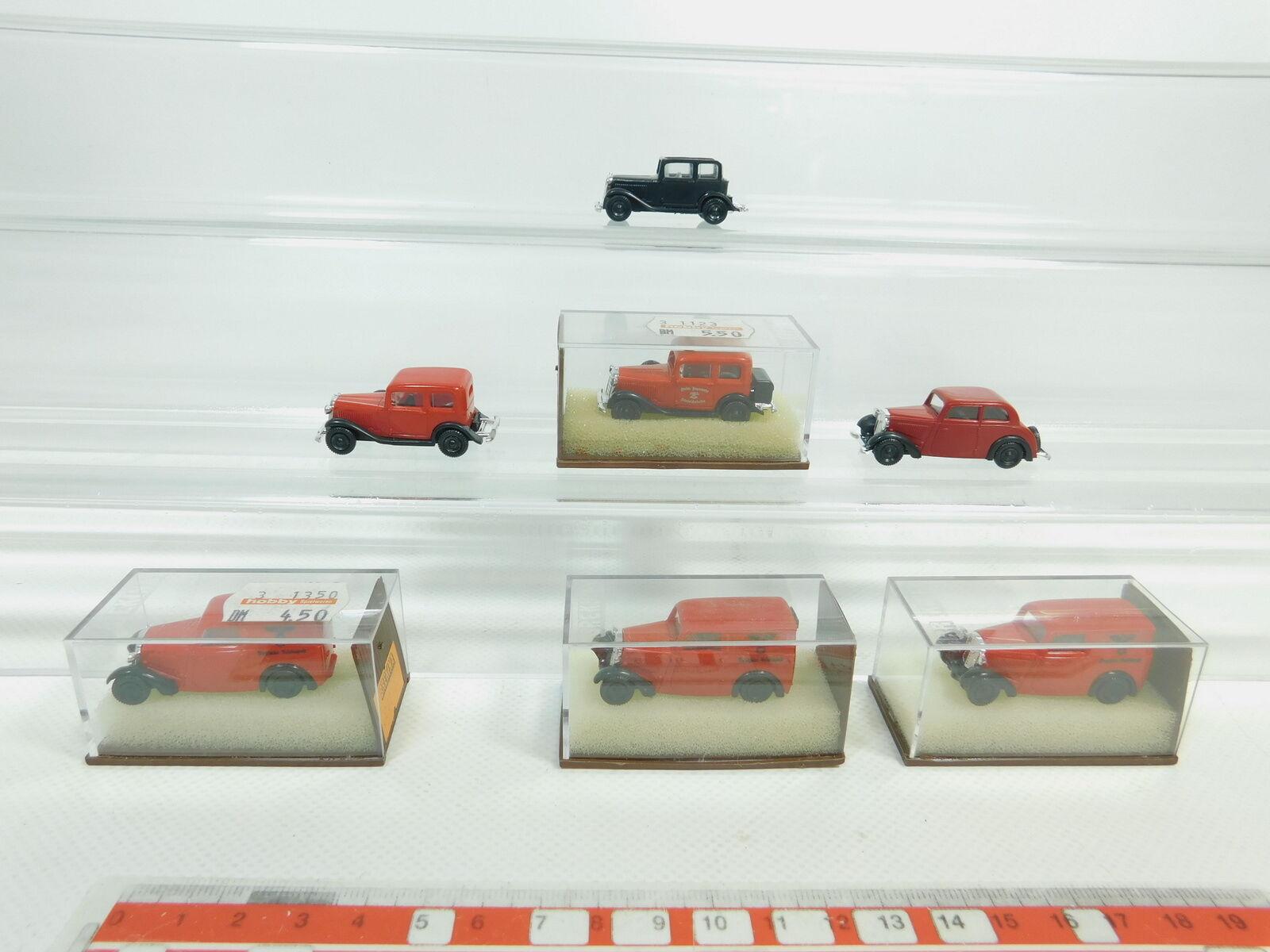 BK80-0,5  7x Brekina H0   1 87 Modèle Opel P4  DKW F7, Top  3x Ovp