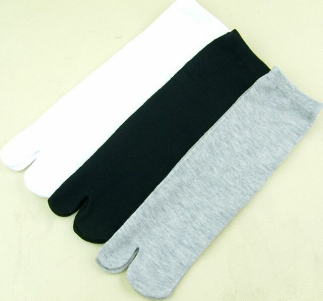Mens Womens Japanese Kimono Flip Flop Sandal Split Toe Tabi Ninja Socks