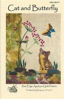 Cat And Butterfly Laundry Basket Quilt Applique Pattern