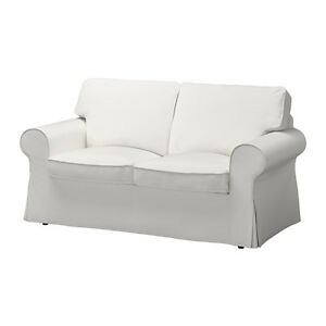Ikea White Cover For Ektorp Loveseat 2 Seat Sofa Slipcover Vittaryd White New Ebay