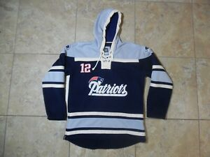 cheap for discount 2d678 3dec9 Details about Patriots Tom Brady NFL Players Pullover Hoodie Sweatshirt  Hockey Style XL