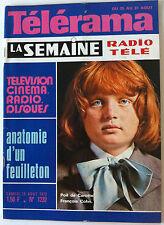 Télérama 25/08/1973; Poil de Carotte, F. Cohn/ Jules Renard/ Planète des singes