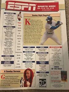 1a0fa8fa76 Vintage 1991 KEN GRIFFEY JR. ESPN Poster Print Ad SEATTLE MARINERS ...