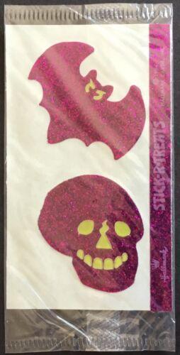 Stick R Treats Vintage Hallmark Stickers Dated 1984 Glitter Skull /& Bat
