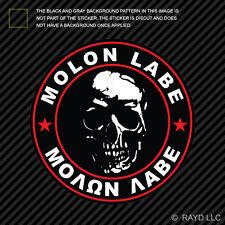 Molon Labe Red Circle Sticker Decal Self Adhesive Vinyl Come Take Them 2A v4a
