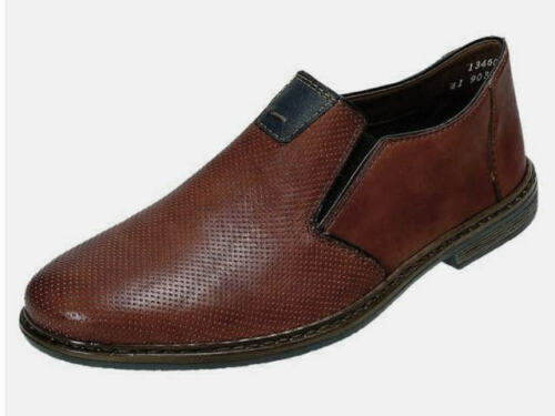 Rieker 13460-24 Chaussures Basses Pantoufles Cuir Chaussures Hommes 40-46 marron neu9